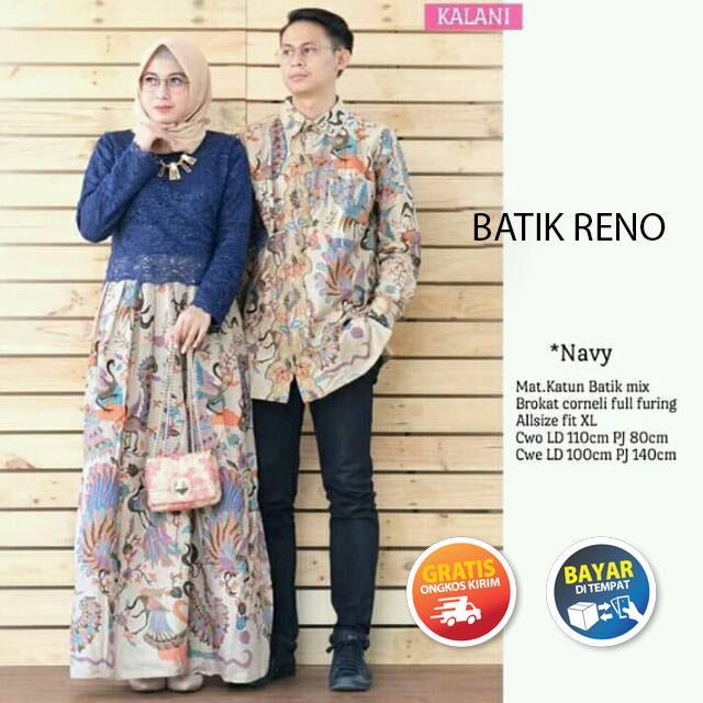Baju Batik Couple / Baju Muslim Wanita Terbaru 2019 / Batik Sarimbit / Batik Modern / Kebaya Couple