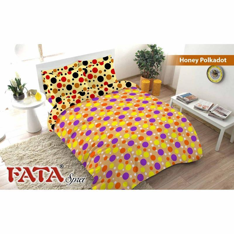 Bed Cover Fata Signature Flat King bantal 2 180X200 Honey Polkadot