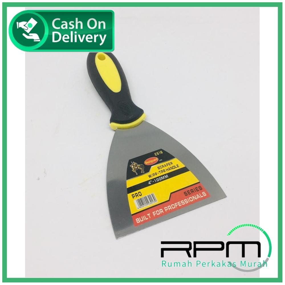 Bestguard Kape 4 inch Gagang Karet - Alat Pengeruk gg Karet - Screper W PP Handle