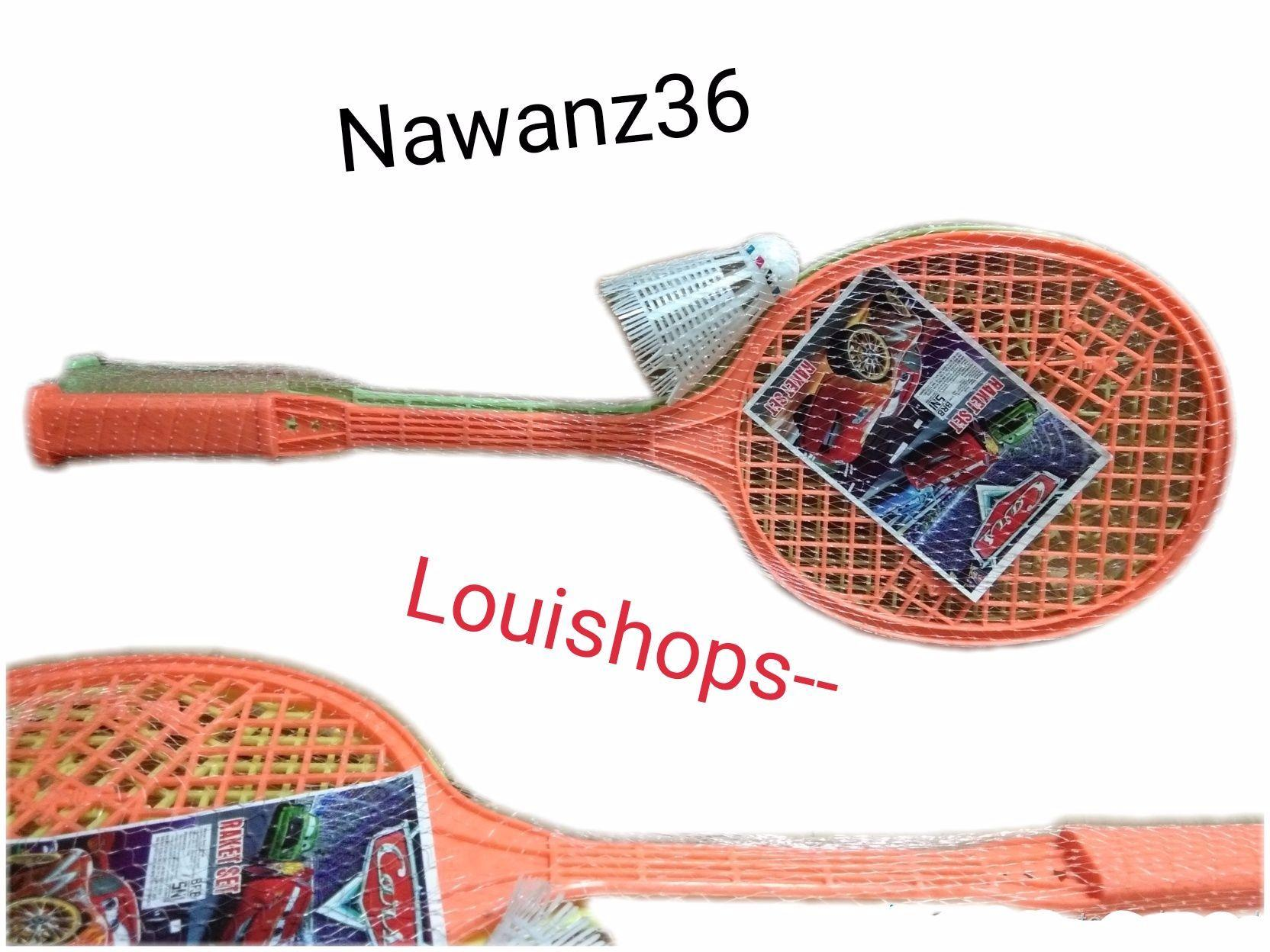 Raket Mainan Bulu Tangkis Badminton By Nawan36.