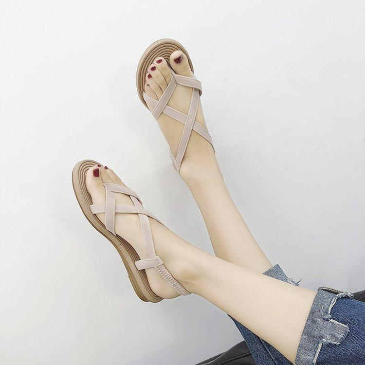 Korean Style Fashion Flat Split Toe Sandals Summer 2019 New Style Rome Flat Case Toes Versatile Students Womens Sandals By Taobao Collection.