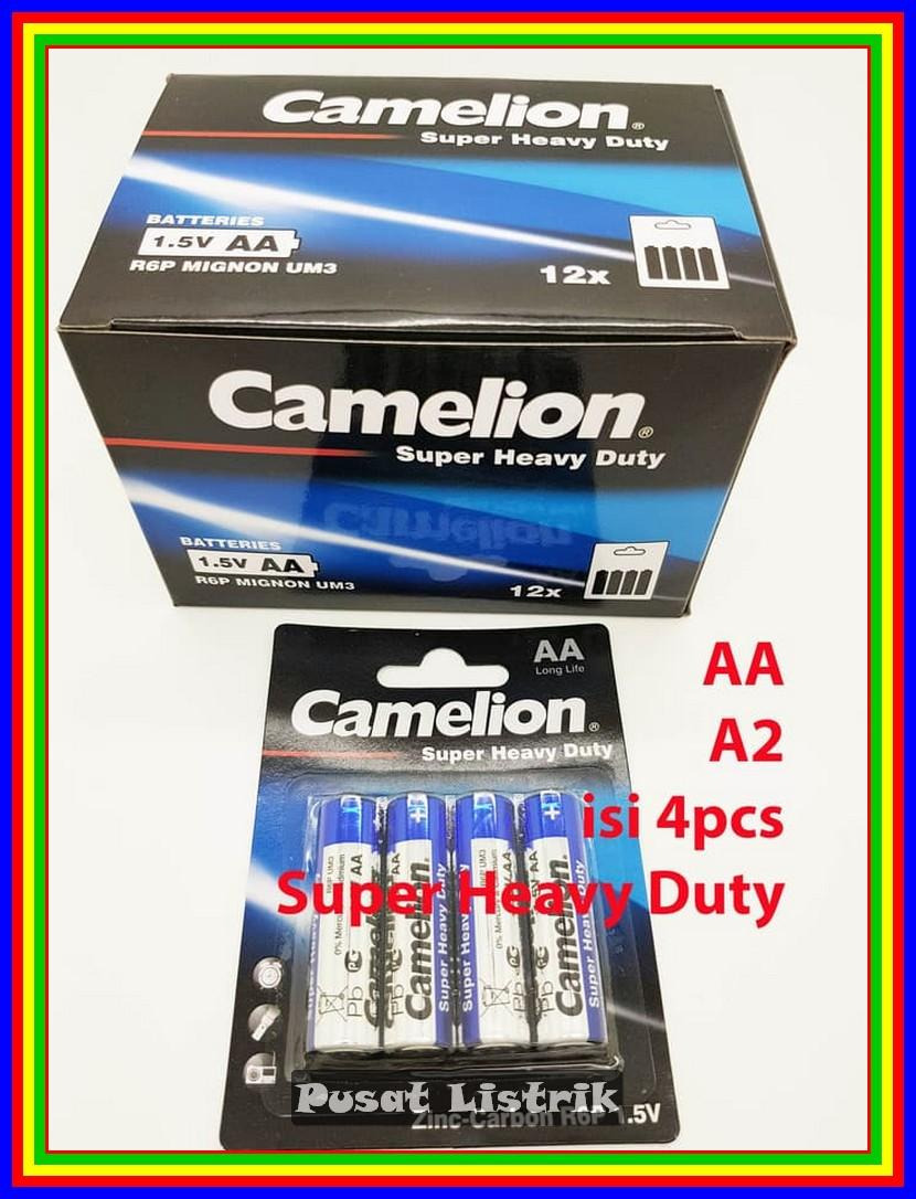 Baterai Heavy Duty Camelion A2 Aa Isi 4 Pcs 1.5V Battery Batre Batere