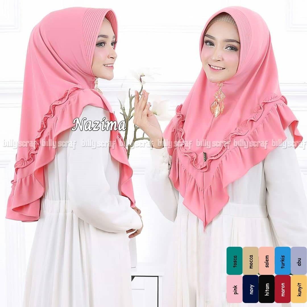 laudya Jilbab Instan Series Pink Khimar Mini / Khimar Oneto / Grosir Murah / Vanilla HIjab