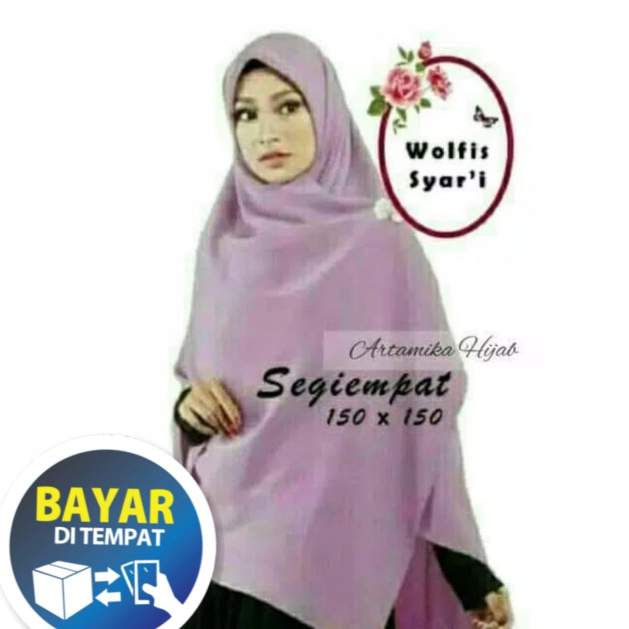 Jilbab SEGIEMPAT 150 x 150 wolfis segi empat hijab artamika kerudung khimar