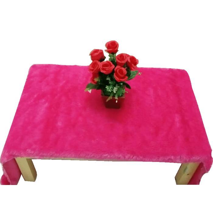 Taplak Meja Bulu Uk 50x150cm Bahan Bulu Halus Dan Lembut