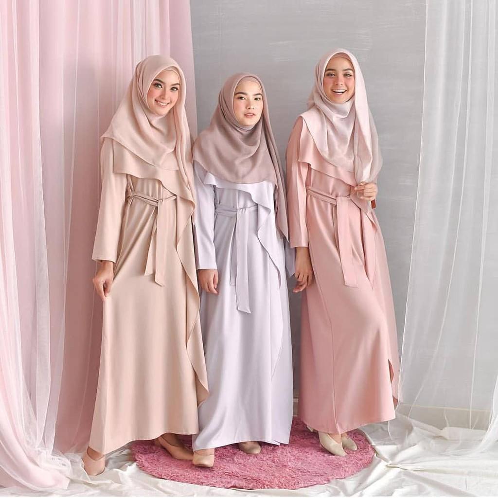 Kembaran Dress Balotelly Pakaian Gamis Wanita Baju Muslim Gamis Modern Trendy Dress Muslimah Casual Baju Jumpsuit Modis Baju Lengan Panjang Baju Syar I Muslim Wanita Baju Kerja Syari Panjang Dress Pengajian Murah Terbaru