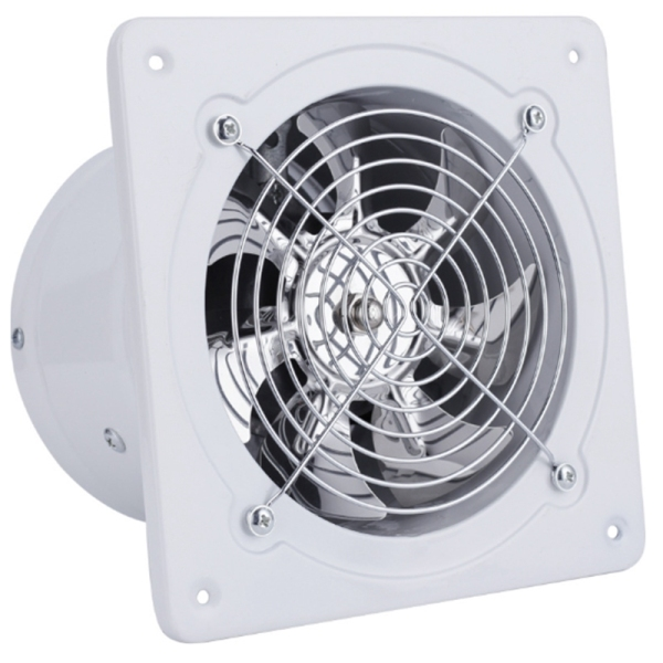 220V Exhaust Fan 6 Inch Ventilation Exhaust Fan Hanging Wall Mounted Low Noise Home Bathroom Kitchen Smoke Exhaust Fan Air Vent Extractor