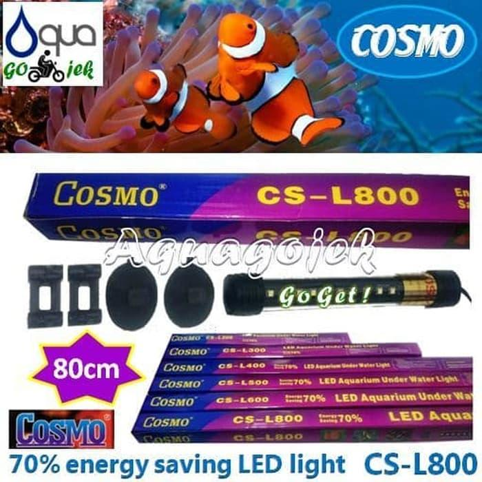 Cosmo CS-L800PB Lampu LED 80cm Aquarium Warna Putih Biru