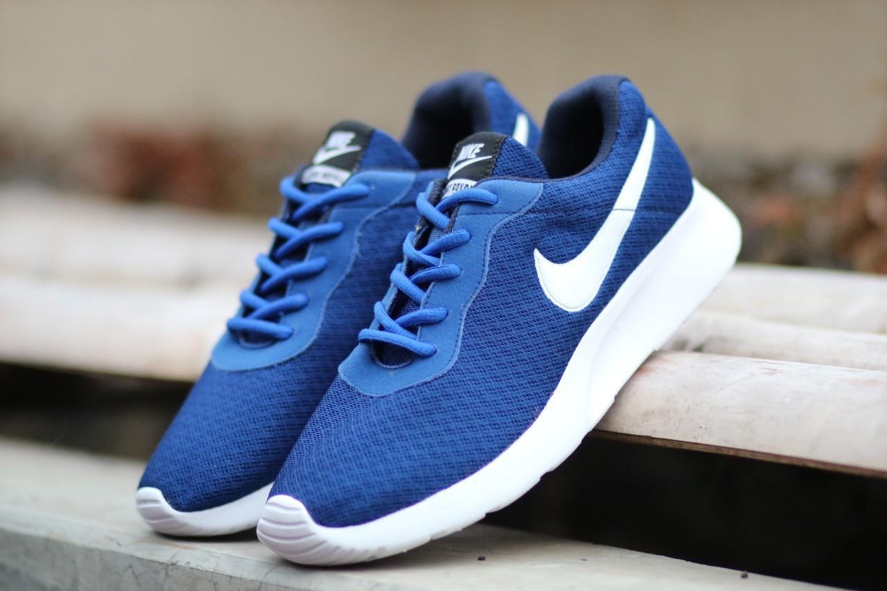 Sepatu Nike_Tanjun Mens Blue Sneakers Runing Terbaru