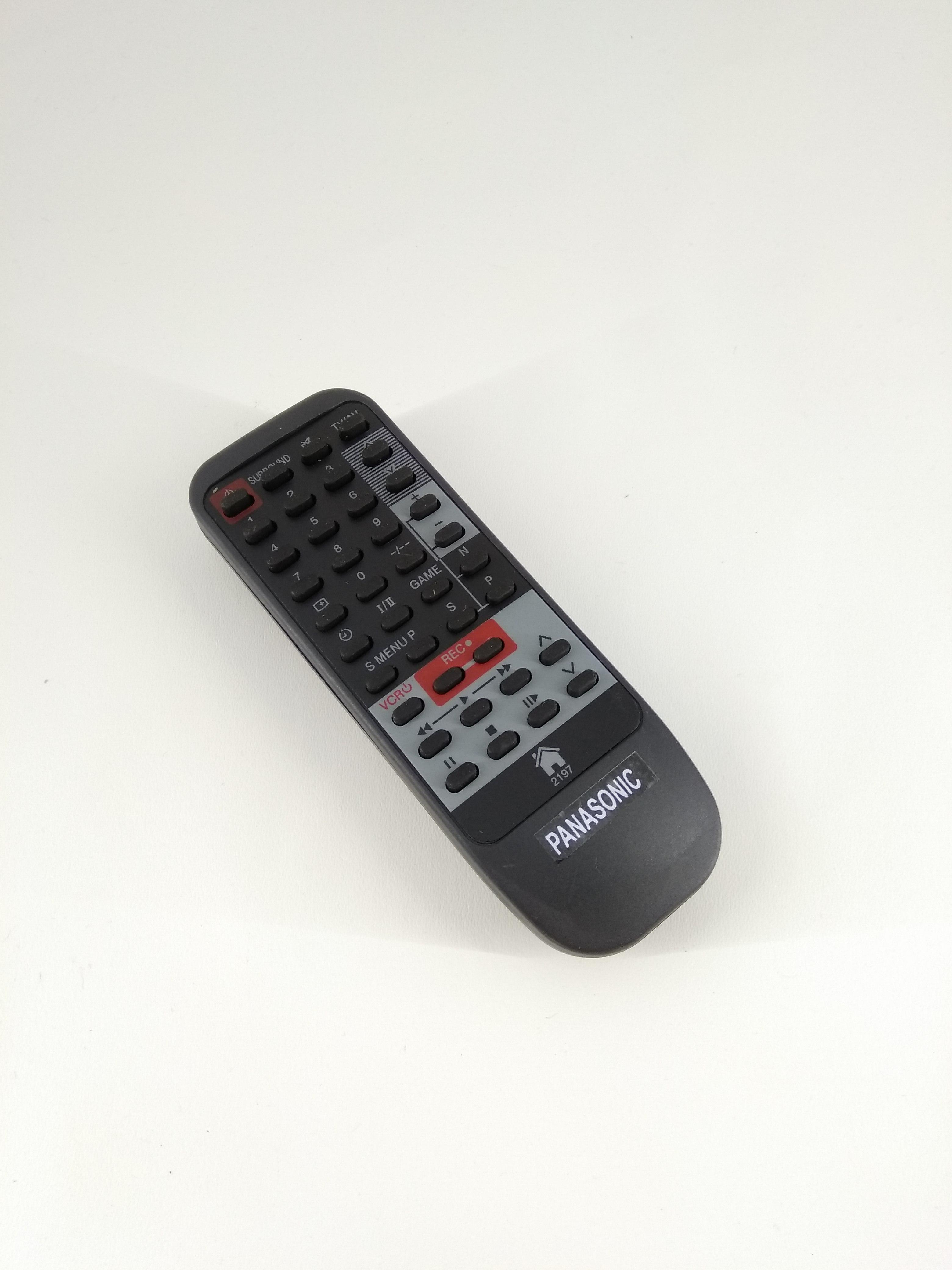 Remot Remote TV Panasonic Tabung 2197 Original Pabrik / KW