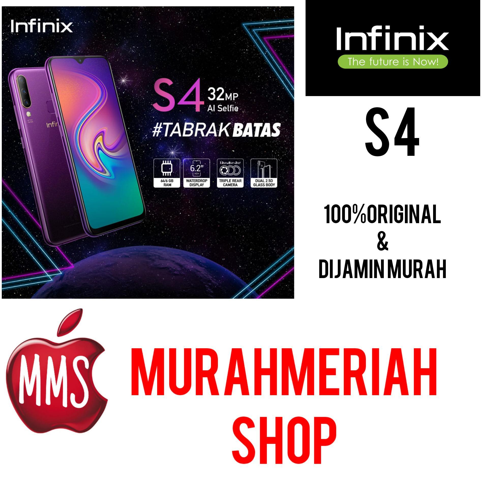 INFINIX S4 SMARTPHONE AI Selfie Camera 6/64 GB - BIRU - GARANSI RESMI INFINIX INDONESIA