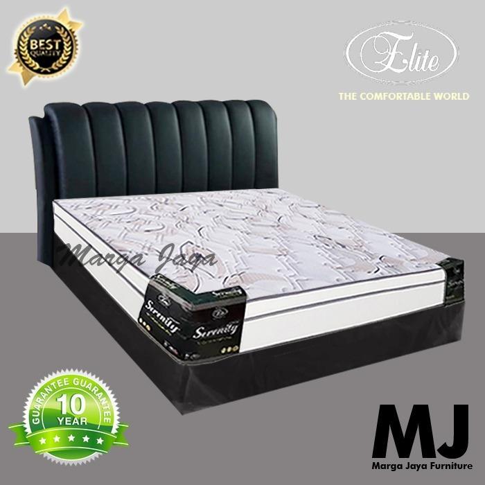 Kasur Spring Bed Set Elite Serenity Plust Top 160 Cm Berikut Divan Dan Sandaran By Toko Meubel Marga Jaya.