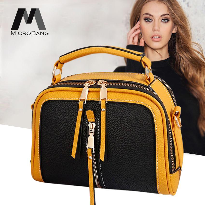 MicroBang Cross Body Shoulder Bags PU Leather Handbags Tote Purse Women Sling Bags Top-Handle Shoulder Bags Messenger Satchel Bags