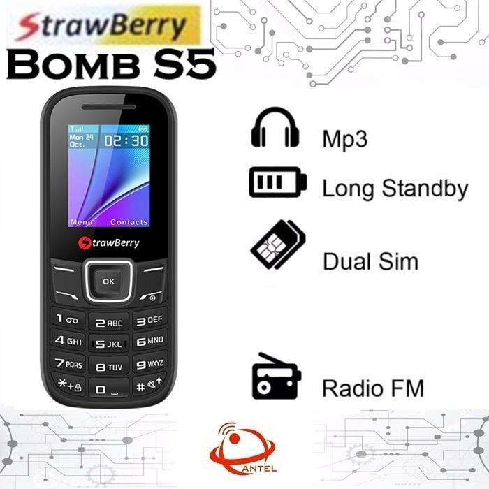 Strawberry S5 Bomb Dual Sim Candybar FM Radio Handphone