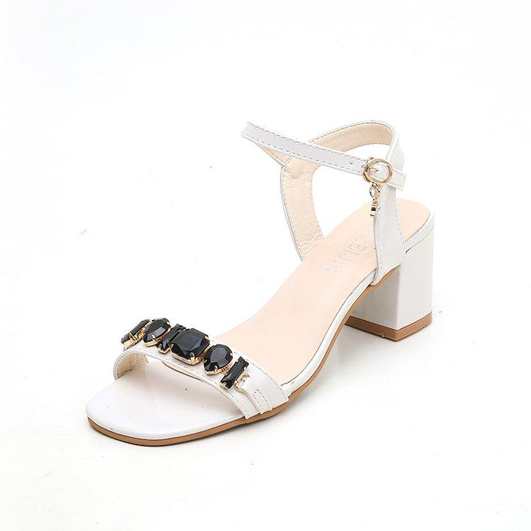 5a6aff0e813 2019 New Style Block Heel Sandals women Summer Fairy Wind A-line Belted Semi -