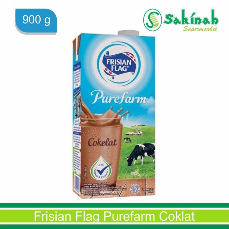Frisian Flag susu UHT Purefarm rasa Coklat 900 g
