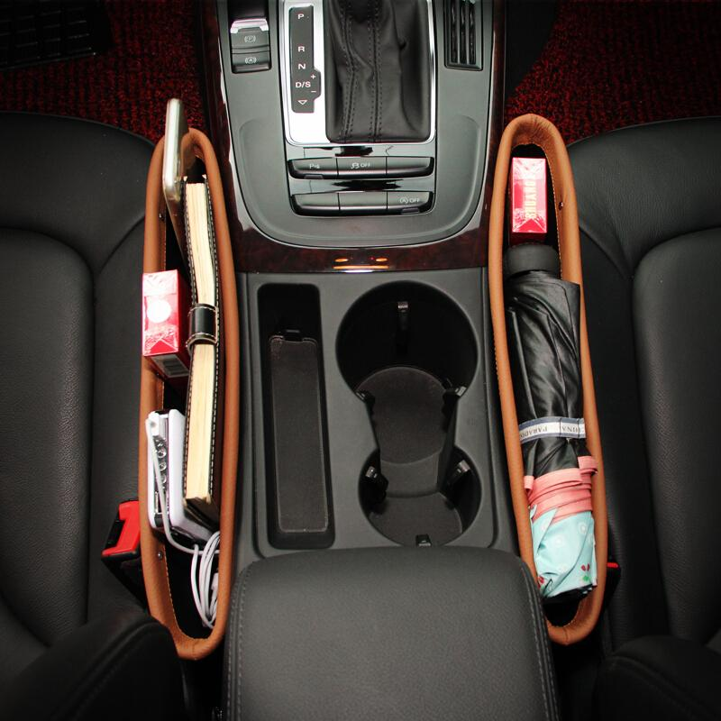 Leather Car Seat Gap Storage Organizer Wadah Sekat Samping Kursi Jok Mobil
