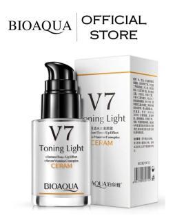 BIOAQUA Official V7 Toning Light Whitening Facial Mousturizing Cream - Krim V7 Bioaqua Krim Pemutih Kulit dan Wajah Lembuh dan Tahan Lama Mencerahkan Kulit Pemutih Instant White Mengandung Vitamin dan Hyaluronic Acid thumbnail