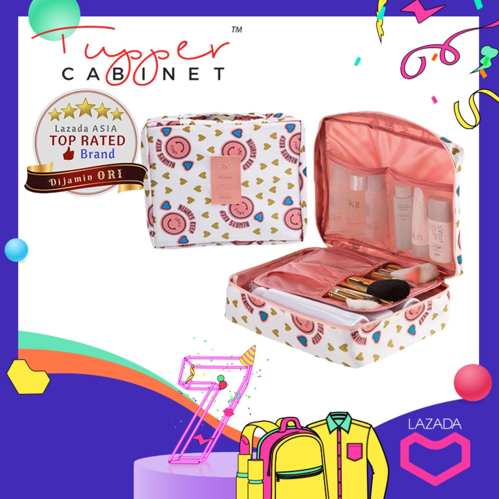 Tas Travel Pouch Kosmetik Tas Make up Organizer Toiletries Bag Tas Tangan  Sabun Mandi Makeup Toiletries 984931b892