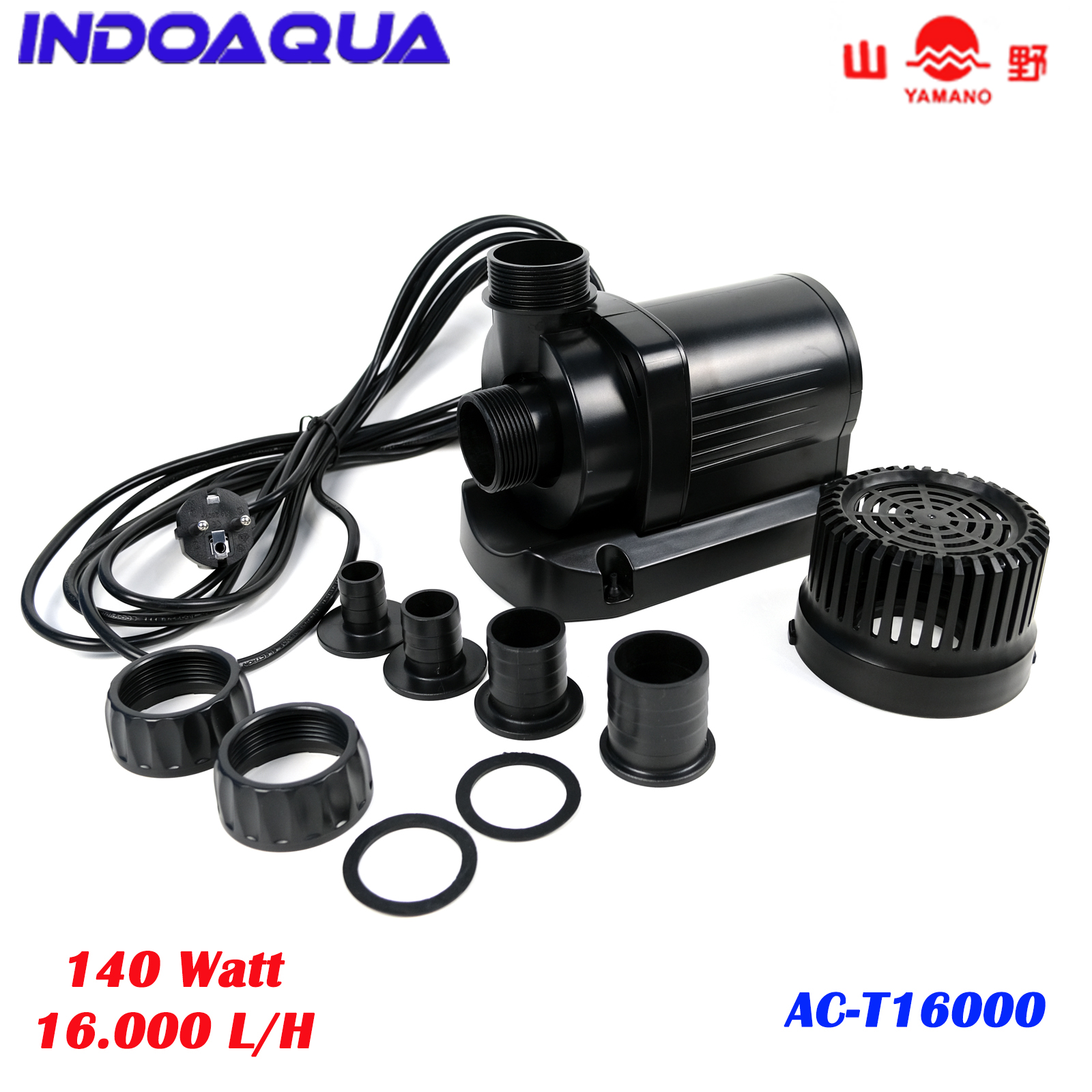 Water Pump Kolam Ikan Koi Low Watt Yamano Act 16000 Pompa Celup Kolam Air Terjun Hemat Listrik Lazada Indonesia