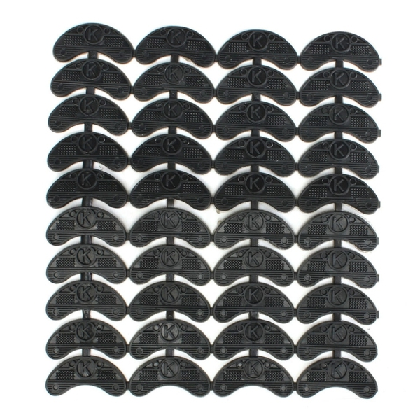 40PCS 20-Pair Rubber Heel Savers Toe Plates Taps DIY Shoe Repair Pads Size:56*24*3.1MM giá rẻ
