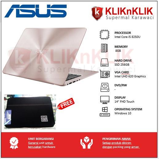 ASUS ZenBook Flip UX461UA-8250U-8GB-256GB-14 FHD Touch-Win10 Rose Gold Hybrid X360