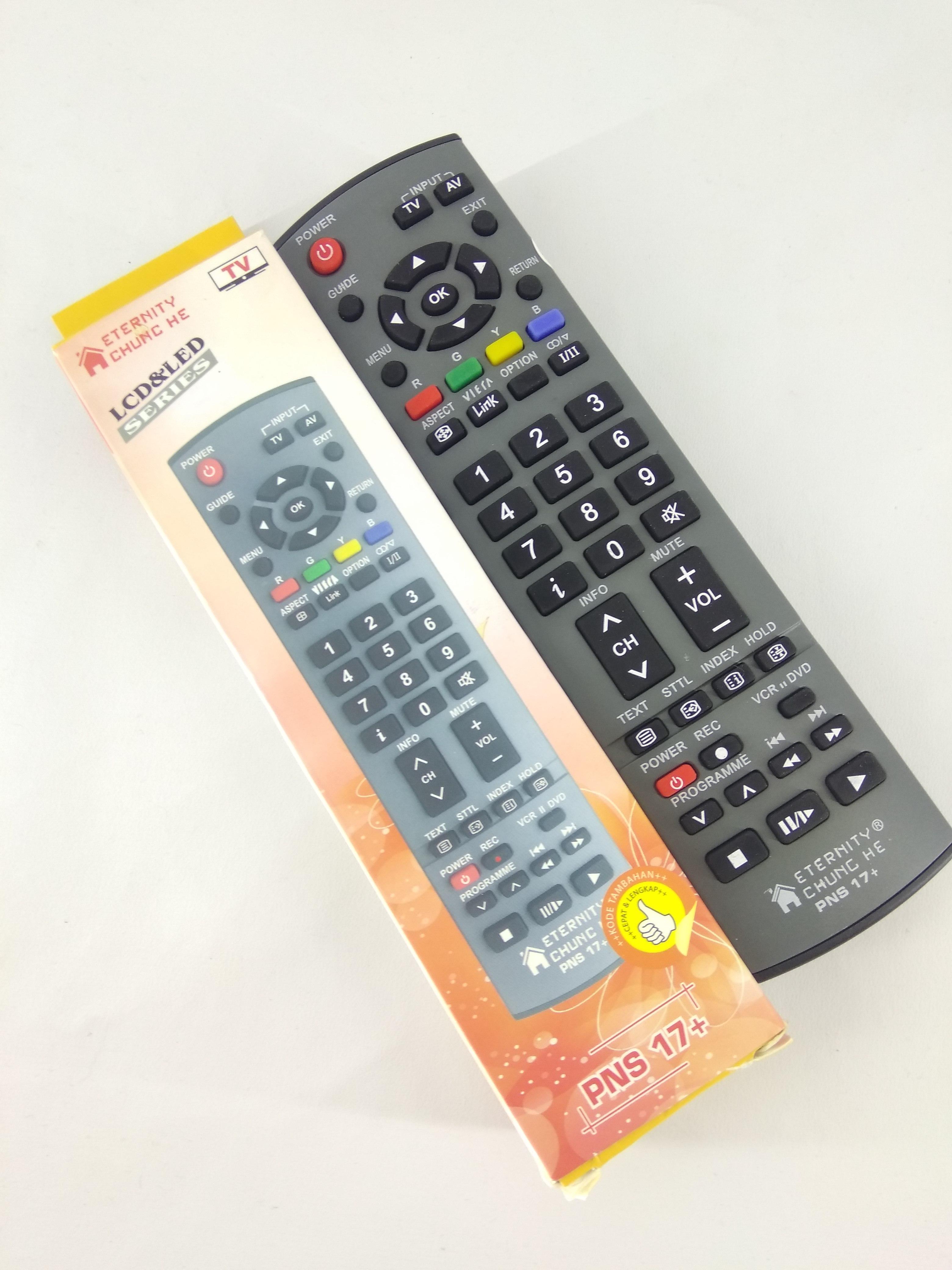Remot Remote TV Panasonic Viera LCD LED Multi Universal PNS 17+