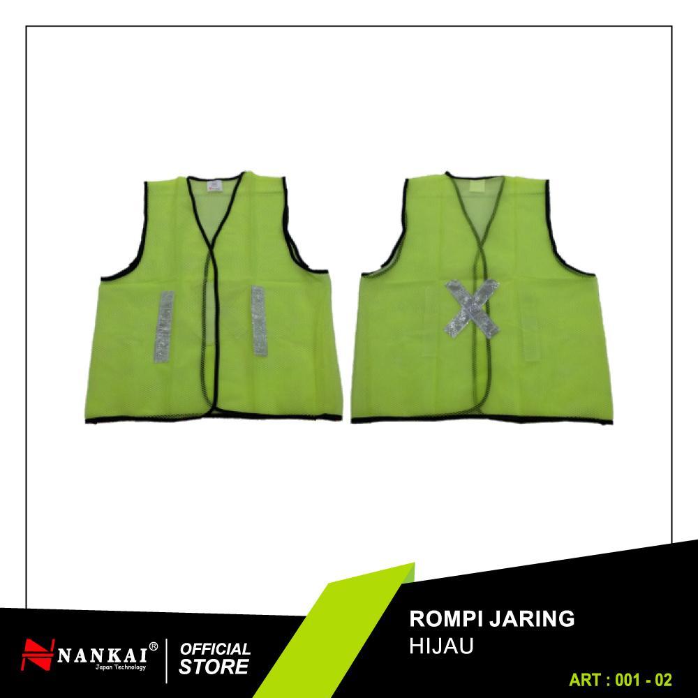 Perkakas Nankai Safety Vest - Baju Rompi Proyek Pengaman Jaring Hijau Perkakas Tool By Nankaitools.