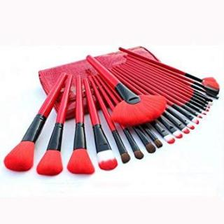 DOMPET MERAH Brush Set isi 24pc ( Kuas Make up ) RED thumbnail