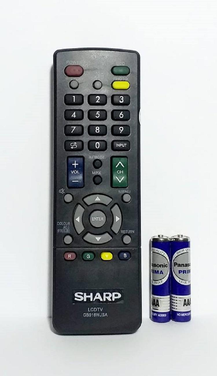 Sharp Remote Control TV LCD/LED GB016WJSA - Hitam