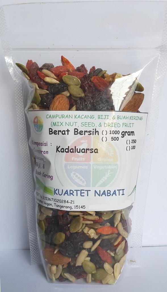 250gr Kuartet Nabati Original Mix Nut - Campuran almond, walnut, pumpkin, sunflower,