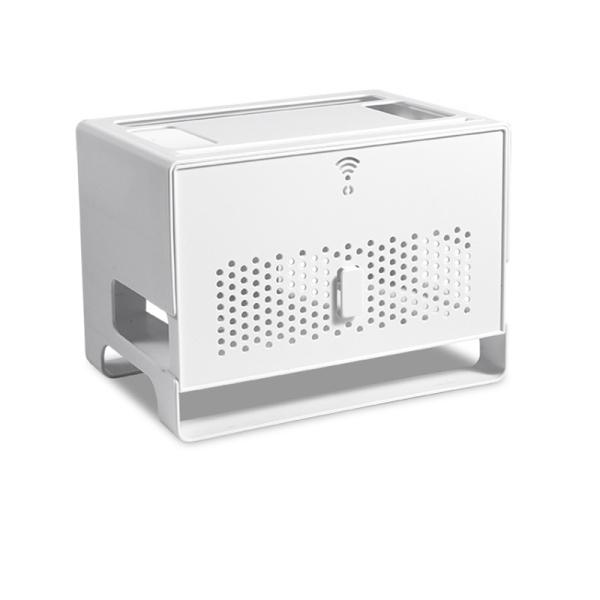 Giá Double Layers Drawer Type Wireless WIFI Router Storage Box Cable Power Plug Wire Basket Storage Organizer