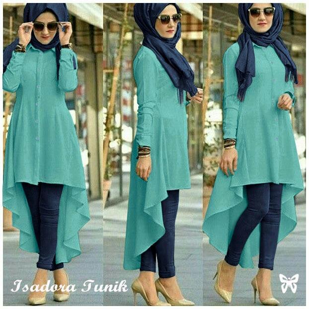 DoubleC Fashion Tunik Wanita Denim Jumbo / Tunik / Dress Isadora