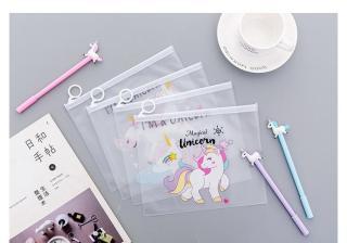 CODMALL kotak pensil unicorn pink panther lucu Pouch Kosmetik Motif Pink Tempat Pensil PenaTransparan Multifungsi Tas Karakter R079 Impor Murah thumbnail