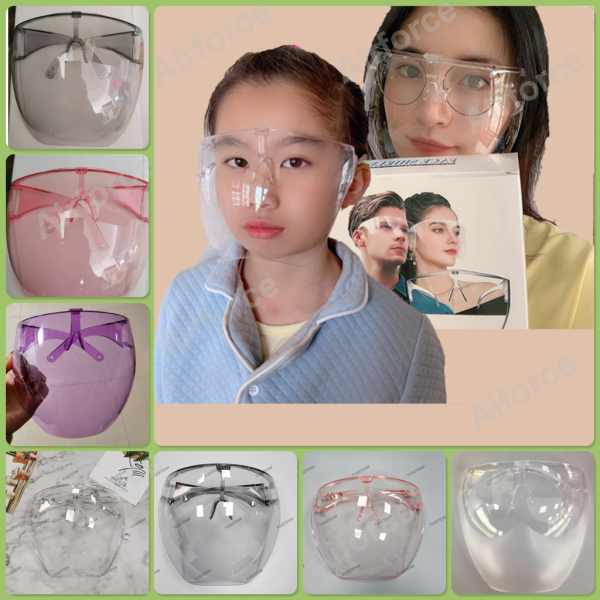 Acrylic Clear Full Face shield Non Dizzy NEW Version FACE SHIELD ACRYLIC Sleek minimalist lightweight full face shield For Adult and Children