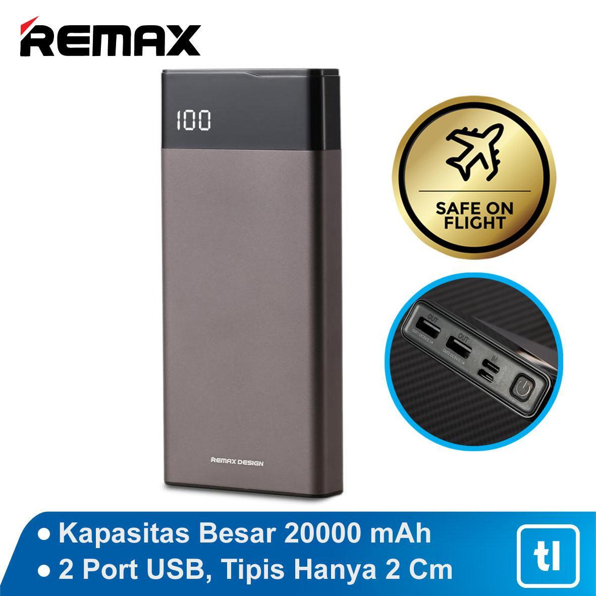 Remax Renor Power Bank 20000 mAh RPP-131 Original Garansi / Power Bank Original / Power Bank Garansi / Power Bank Murah / Power Bank Bagus / Power Bank Awet