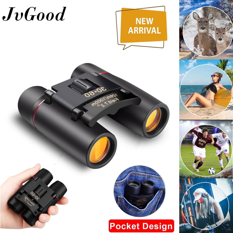 JvGood Teropong Lipat Mini Folding Binoculars, 30 x 60 Telescope Lens Small Binoculars Compact for