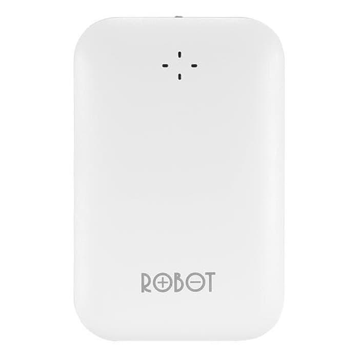 Robot Power Bank RT7300 6600mAh By Vivan Dual Output - Putih