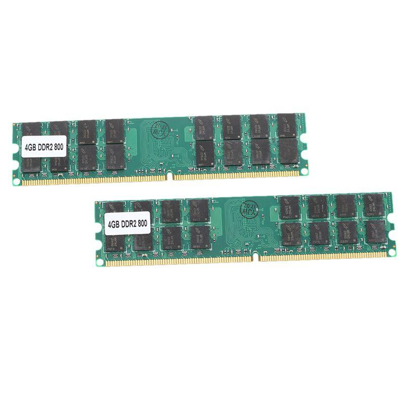 Giá 8G (2 x 4 G) Memory RAM DDR2 PC2-6400 800MHz Desktop non-ECC DIMM 240 Pin for AMD