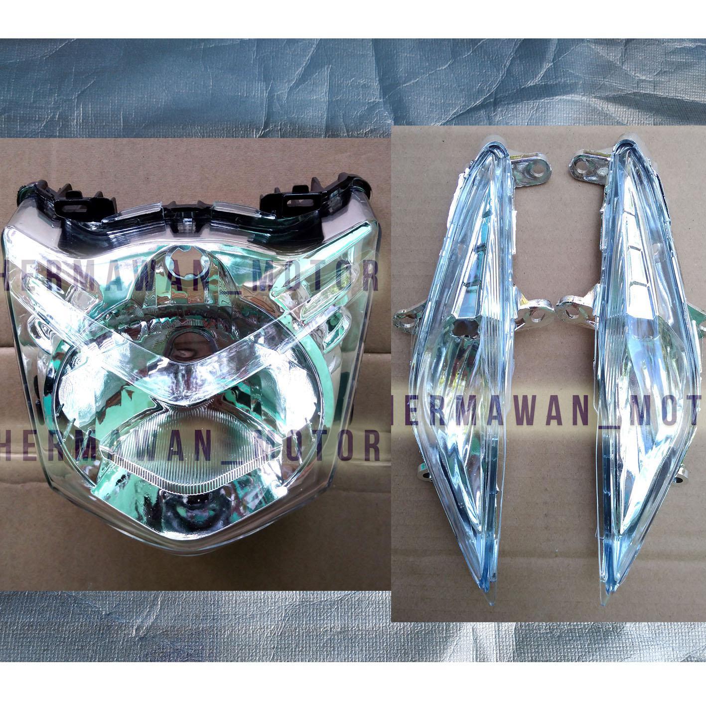 Lampu depan dan sen motor honda beat karbu th 2008-2012 bening