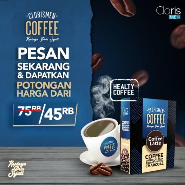 Clorismen Coffee Collagen Healthy Coffee / Kopi Kesehatan Dengan Extract Collagen & Active Charcoal