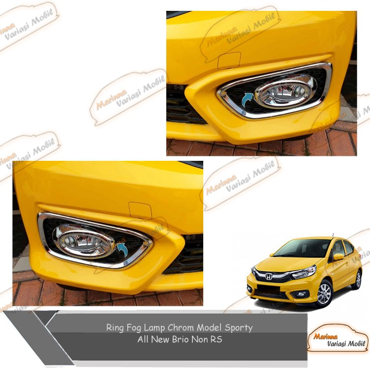 Ring Fog Lamp Chrome Model Sporty Mobil All New Brio Non Rs