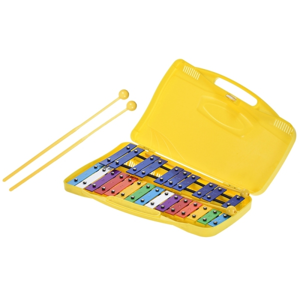 Colorful 25 Notes Xylophone Percussion Rhythm Educational Toy Handheld Percussion for Kids