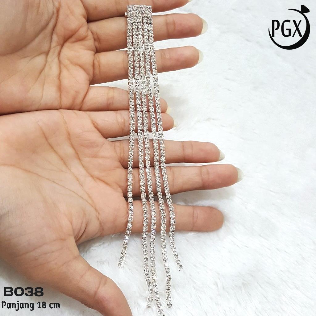 Bros Dagu Juntai Panjang Aksesoris Hijab Jilbab Souvenir Cantik - B038 By Pusat Grosir Xuping.