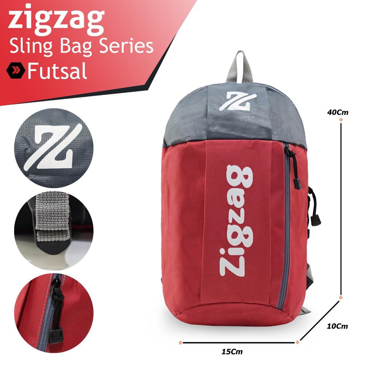 Tas Duffle Pria selempang Zigzag sport Gym futsal swimming MA00056-MJ Black Purple