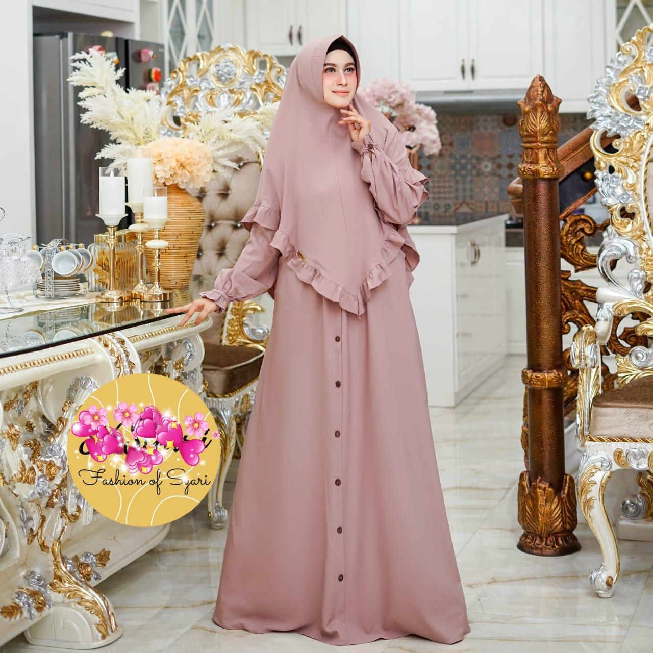 Cod Gamis Zoya Syar I Set Khimar Terbaru Size Xl Bhn Crepe Gaun Panjang Premium Modis Dan Trendy Lazada Indonesia