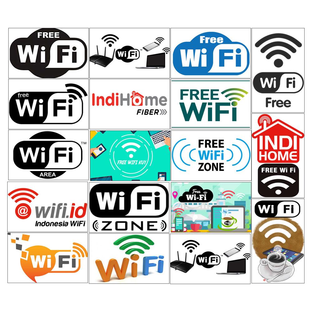 Stiker Sticker Wifi Id Free Wifi Indihome Fiber Zone Zona Area Wifi Wi Fi Indonesia Kopi Cofee Free Wifi Stiker Glossy Doff Gilap Anti Air Tempel Dinding Dekorasi Rumah Lengkap Komplit Aneka