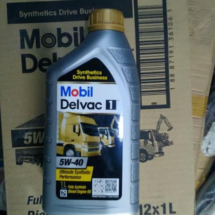 Dijual Oli Mobil Delvac 1 5W-40 Fully Synthetic Diesel Engine Oil 100%