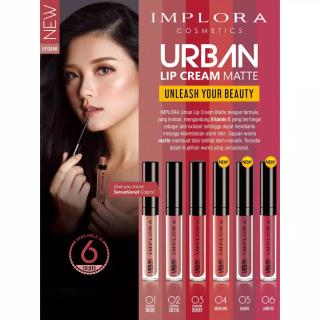 TOKO20 ( ISI 1 ) Lip Cream Implora Matte Lipstik Original Lipstick BPOM Lipstick matte Lipstik Lipcream Implora Lipcream Matte UN079 thumbnail