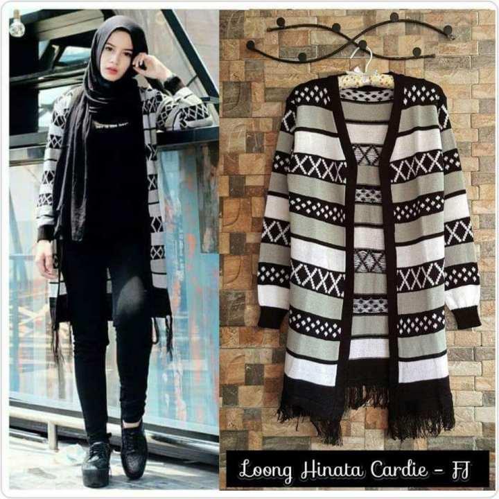 Long Hinata Cardy / BAYAR DI TEMPAT / Sweater Rajut Wanita